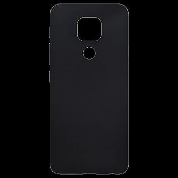 Čierne gumené puzdro Motorola E7 Plus