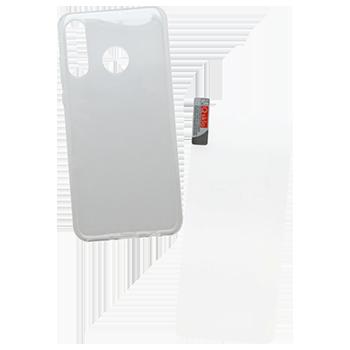 Huawei P30 Lite sklo + priehľadné puzdro