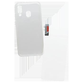 Samsung Galaxy A40 sklo + priehľadné puzdro