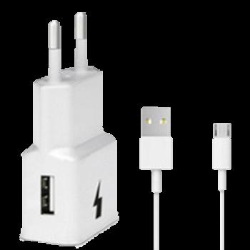 Sieťová nabíjačka USB + kábel MicroUSB