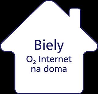 Biely O2 Internet na doma