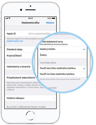 iphone platobné informácie