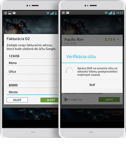 android verifikácia účtu